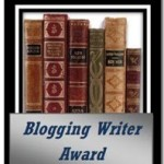 My Blogging Writer Award from Elizabeth Spann Craig