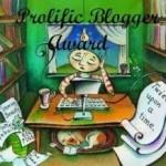 The Prolific Blogger Award