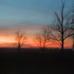Illinois Sunset on the Farm
