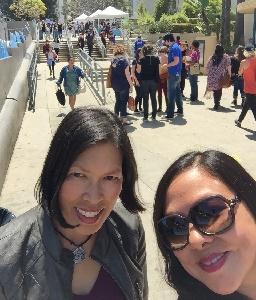 Katherine Valdez and her sister, Hazel Martinez, at YALLWEST