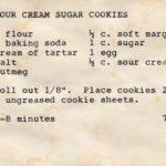 The Recipe for Sour Cream Sugar Cookies